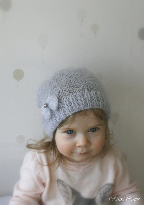Knitting Pattern For Mohair Hat : KNITTING PATTERN basic slouchy mohair hat with a bow by MukiCrafts