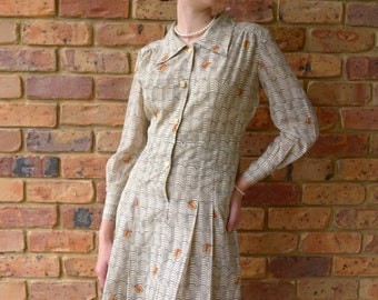 Tailored Feminine Retro 1960's Flag Dress