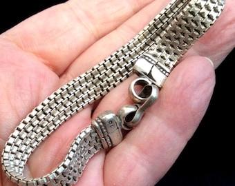 Soft Flexible Sterling Silver Bracelet. 8 inches. Vintage. free US ship