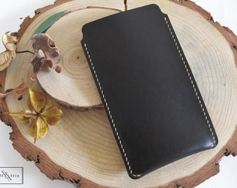 Horween Leather Phone Sleeve / Leather Phone Pouch / Leather Phone Case