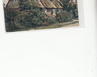 Old Thatch British Cottage, Mongeham, Deal Unused Postcard