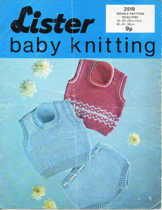 Baby Knitting Pattern Baby tank tops & pants baby slipover