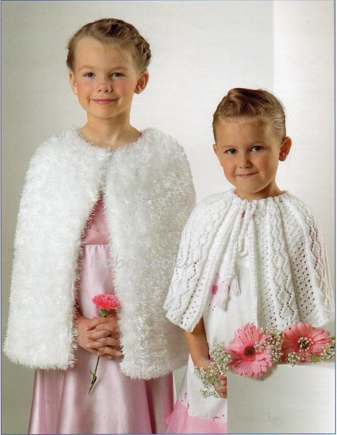 Knitting Patterns For Capes : Girls Knitting Pattern Girls Capes Furry Cape Wedding Cape