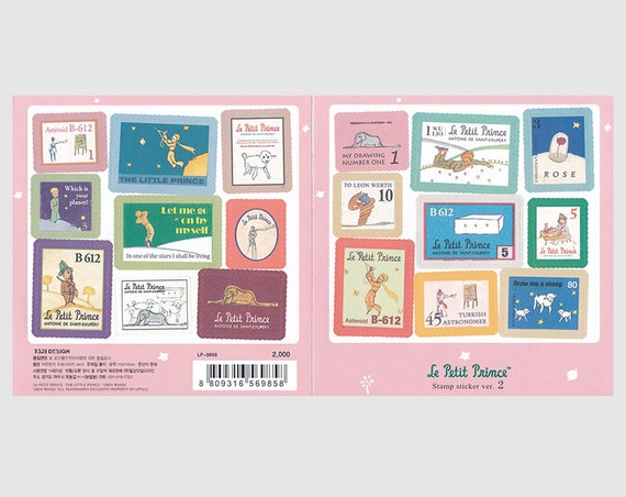 Postage Stamp Stickers Le Petit Prince The by LittleJenStore
