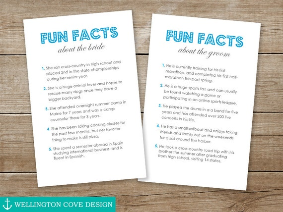 FUN FACTS Template Microsoft Word 5 Things About Bride and – Microsoft Word Fact Sheet Template