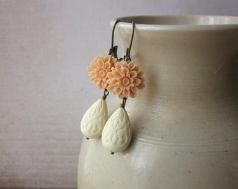 Peaches and Cream Earrings