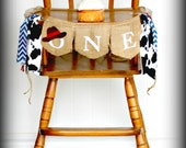 COWBOY Birthday Party Banner Highchair Garland Photo Prop High Chair Rodeo Western Cow print Farm Theme Birthday Cake Smash Backdrop