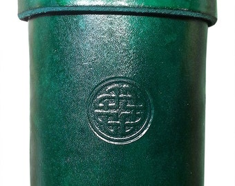 Leather Dice Cup with Celtic Knot designs