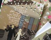 Invite Card & RSVP : Custom Illustrated Wedding Invitations