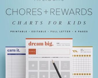 Kids Chores Charts, Kids Chore List, Behaviour Chart, Job Chart, Family Chore Chart, Reward Chart, Weekly To Do List, Responsibility Chart