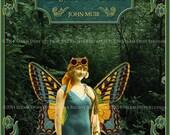 Victorian Steampunk Fairy Scrapbooking, Journal Art - Digital Scrapbook Art - 5x7 Digital Art - Instant Download - Steampunk Fairy Printable