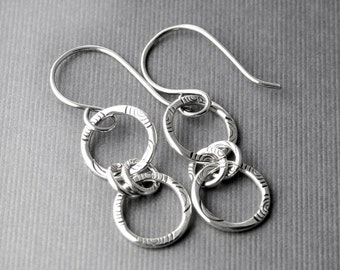 Sterling Silver Earrings Handmade and Recycled