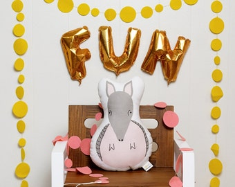 Alfonso Armadillo stuffed animal softie eco friendly baby children baby nursery home decor gift