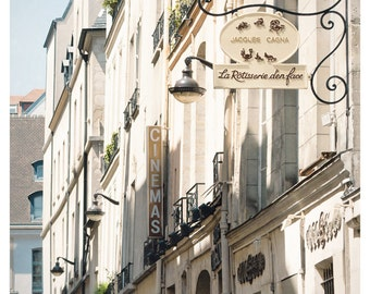 Paris print, large wall art Architectural Paris photography art, neutral beige vertical Paris poster, 11x14, 12x16, 16x20 print, 18x24, 8X10