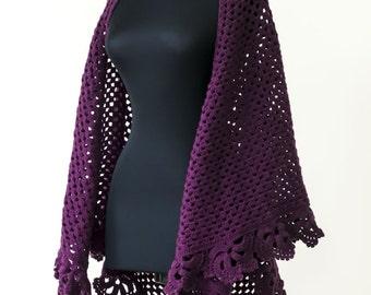 Тutorial crochet shawl pattern, Triangle shawl pattern, crochet stole pattern, Crochet Shawl, Instant Download /1009/