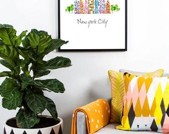New York City Letters Typography With Graphic Design Ready For Print Poster Big