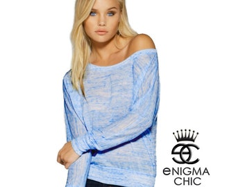 Sale Today Only Off Shoulder Dolman Long Sleeve by Enigma Chic