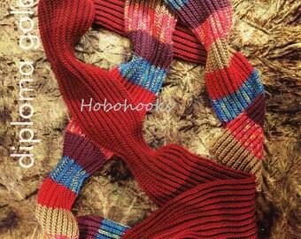 ribbed scarf knitting pattern DK long striped scarf knitting pattern womens scarf mens scarf scarves knitting patterns  PDF instant download