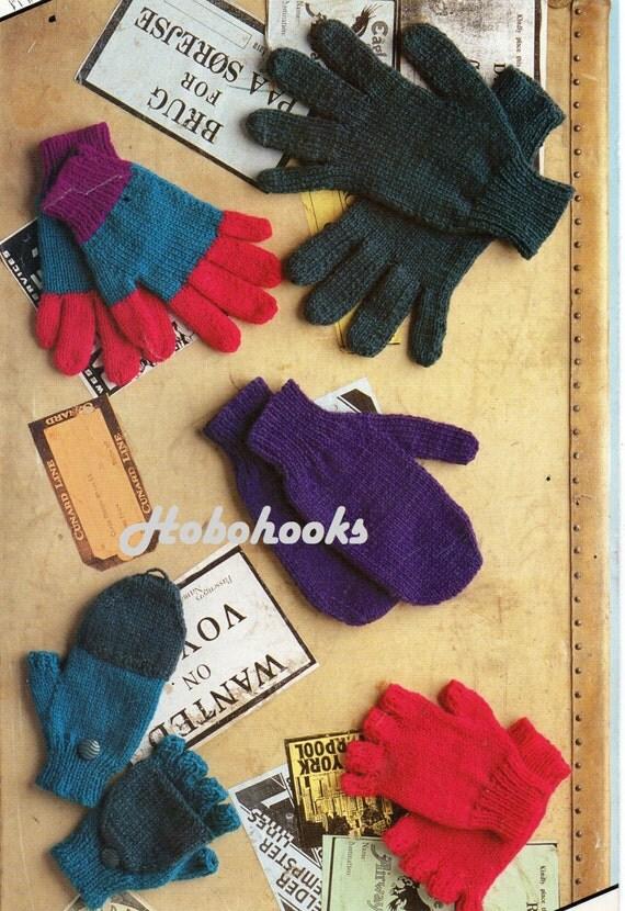Knitting Childrens Gloves