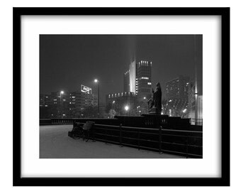Berlin photography, black and white night photography, winter photography, Berlin, night landscape, noir photography, irish photography
