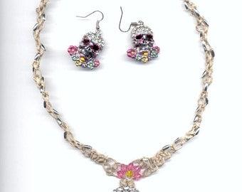 Hemp Necklace Crystal Skull
