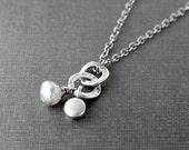 Sterling Necklace with Mystic Labradorite Gemstone Artisan Jewelry