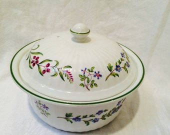 80's Fleuri Oven to Table Ware Casserole by Royal Worcester Made in England