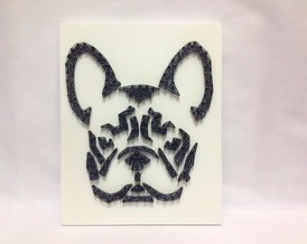 French Bulldog String Art for home and wall decor. French bullys, Dog, Pet Wall Art