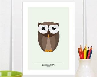 owl print, owl art, owl nursery decor, owl nursery art, owl decor, owl wall art, owl illustration, cute owl print, baby owl print, owl gift