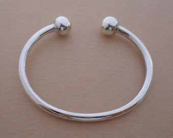 925 Sterling Silver Child's, Baby's Christening Torque BANGLE, Bracelet