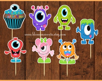 Little Monsters Cupcake Toppers (12)