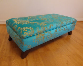 Luxury Handmade Upholstered Storage Footstool/Ottoman/Coffee Table - Made In YOUR OWN FABRIC