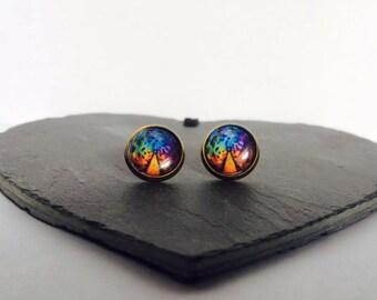 Resistance - Brass Stud Earrings