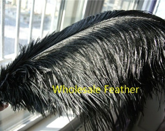 100 pcs BLACK ostrich feather plumes for wedding centerpieces wedding decor party supplies