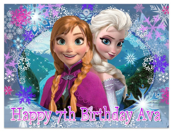 frozen movie edible cake image topper on frosting and icing sheets on frozen birthday cake edible image