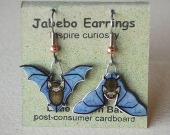 Little Brown Bat Earrings