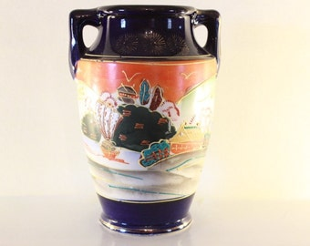 Porcelain Vase. Hand Painted in Japan. Vintage Vase