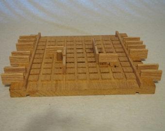 Homemade wooden version of corridor board game