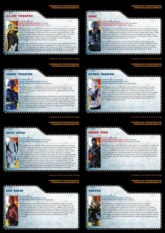 Total Retaliation file cards