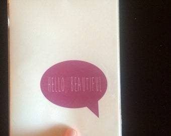 Hello Beautiful Card- Greeting Card- Everyday Card- Cute Card- Quote Card- Hello Card
