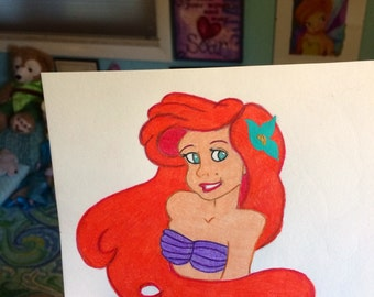 Ariel in Prismacolor Pencil