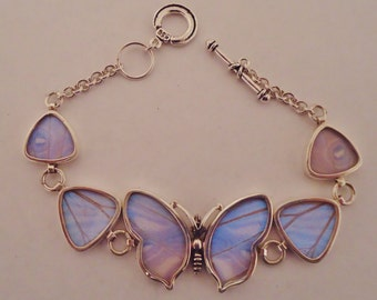 real butterfly jewelry, real butterflies in jewelry, butterfly wings, silver butterfly wing jewelry, real butterfly bracelet,  sulkowski