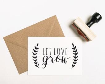 Love Stamp, Seeds Favour Stamp, Seed Favour Stamp, Flowers Favor Stamp, Let Love Grow Favor Stamp, Plant Favor Stamp, Seeds (SFAVS205 - S.2)
