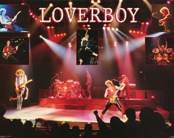Loverboy Band Live On Stage Rare Poster