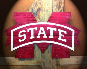 Mississippi State wooden wall plaque