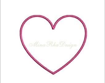 Machine Embroidery Design Heart Applique Design Instant Download