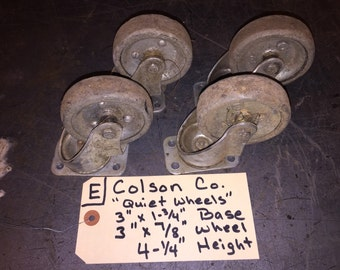 """Colson 4-1/4"""" height industrial caster set of 4 swivel plate with bearings"""