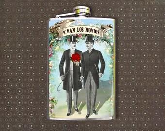 Los Novios 8oz Flask
