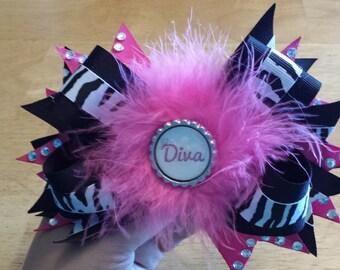 diva hair bow