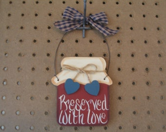 Preserved With Love Wood Sign Hanger
